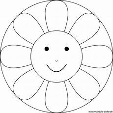 Malvorlagen Mandalas Kindergarten Kinder Mandala Blume Mit Einem Gesicht