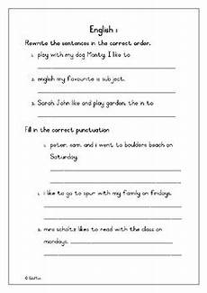 jumbled sentences and punctuation by ewen tpt