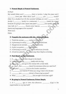 worksheets intermediate 18903 grammar exercises pre intermediate esl worksheet by klakson1980