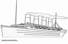 titanic mit rauch gratis ausmalbild