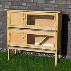 costruire gabbie per conigli conigliera in legno con 2 gabbie per conigli nani o cavie