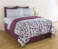 king size white and purple comforter and sheet floral bedding ebay