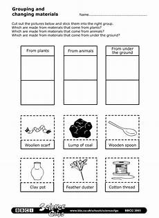 science worksheets materials 12296 schools science grouping and changing materials worksheet