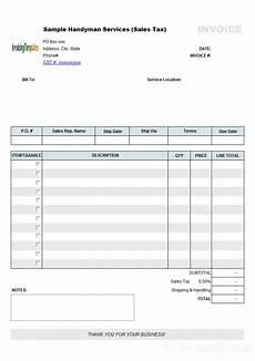 handyman receipt template handyman invoice template sales tax