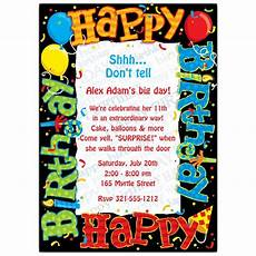 happy birthday invitation card template happy birthday to you invitations paperstyle