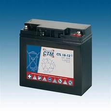 Ctm Agm Batterie Bleiakku Ctl18 12 12v 18ah Marathon