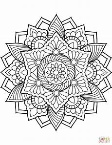 mandalas colouring pages 17853 flower mandala coloring page from floral mandalas category select from 29500 printable crafts o