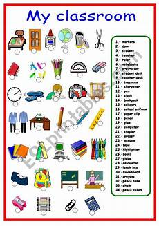 worksheets classroom objects 18220 classroom objects and school supplies esl worksheet by karen1980