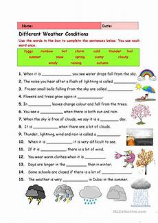 weather reading worksheets 14657 different weather conditions esl worksheets for distance learning and physical classrooms