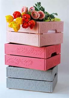 vendo cassette frutta legno cassette della frutta decorate con gli stencil semplice