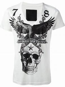 lyst philipp plein skull print t shirt in white for