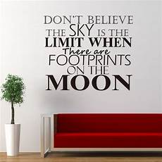 words for the wall home decor powerful quote words footprint on the moon mural home