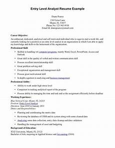 entry level resume objective exles resume objective