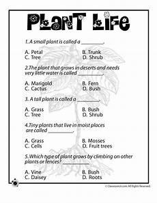 science worksheets for grade 1 types of plants 13715 plant quiz science worksheets planting for plant cycle worksheet