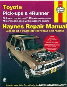 hayes auto repair manual 1995 toyota t100 user handbook haynes toyota pickup and 4runner 1979 1995 repair manual