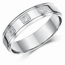 5mm 9ct white gold court shape diamond wedding ring 9ct