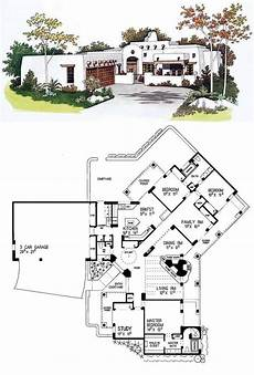 southwest house plans with courtyard southwest style house plan 99276 with 4 bed 3 bath 3