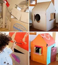 Kinderhaus Aus Pappe Spielh 228 Uschen Aus Karton