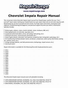 car service manuals pdf 1994 chevrolet caprice user handbook chevrolet impala repair manual 1994 2011
