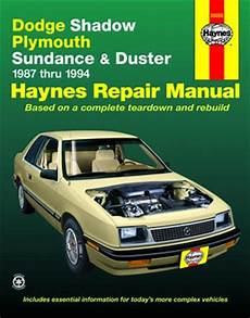 how to download repair manuals 1993 plymouth sundance spare parts catalogs dodge shadow plymouth sundance duster haynes repair manual 1987 1994 xxx30055