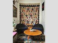 How to Hang Vintage Textiles on the Walls