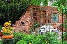 Steinmauer Garten Sichtschutz Kunstrasen Garten Garten