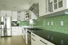 Green Glass Tiles For Kitchen Backsplashes Green Subway Tile Kitchen Backsplash Supreme Glass Tiles