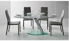 table verre design italien tr 232 s table ronde avec un plateau et une rallonge en