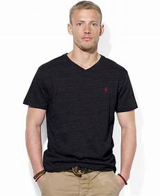 lyst polo ralph jersey v neck t shirt in black