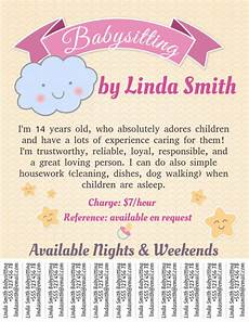copy of babysitting template with tabs postermywall