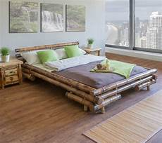 bambusbett futonbett inkl lattenrost bett zu wohlf 252 hlen