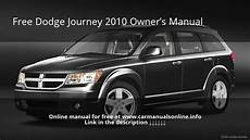 service and repair manuals 2010 dodge journey lane departure warning 2010 dodge journey owners manual youtube