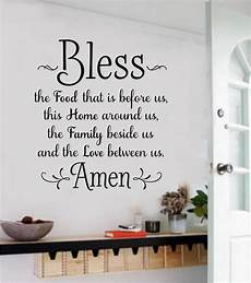 words for the wall home decor bless the food before us wall decals vinyl sticker words