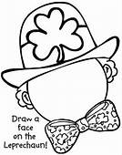 Leprechaun Face Coloring Page & Book For Kids