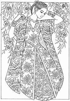 creative haven fantasy fashions coloring book dover