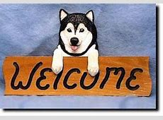 Afghan Hound Dog Breed Oak Welcome Sign   Dog Lover Wall