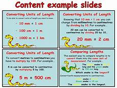 measurement worksheets year 4 1648 converting and comparing units of length year 4 animated powerpoint presentation and