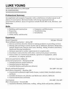 roland knutson inc lead finish carpenter resume sle