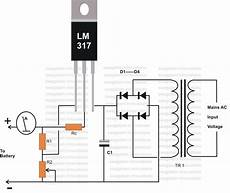 12 Volt Battery Charger Diagram Electronic