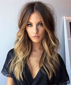 marvelous long caramel balayage layered hairstyles 2018