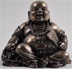 happy buddha small bronze figurine