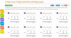 subtraction with regrouping in hundreds and thousands worksheets 10662 k8 school lessons 3 digit minus 2 digit subtraction with regrouping