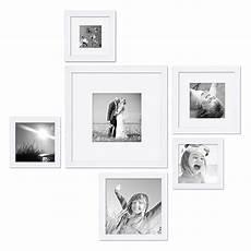 quadratische bilderrahmen 6er set bilderrahmen weiss modern quadratisch aus mdf mit