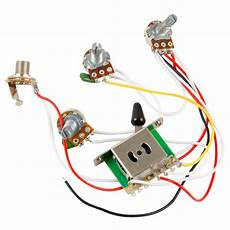 guitar wiring harness kit 5 way switch 500k pots for fender stratocaster strat ebay