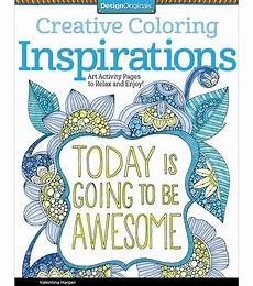 quot today is going to be awesome quot coloring book joann