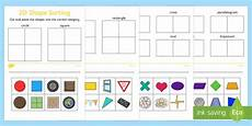 shapes worksheets eyfs 1093 2d shape sorting worksheet activity sheet 2d shapes 2d