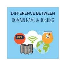 what s the difference between domain name and web hosting explained