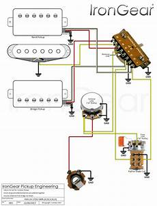 Hsh Wiring Diagram 2 Volume 1 Tone by Irongear Wiring