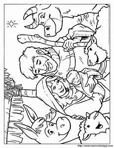 coloriage de no 235 l dessin la naissance de jesus avec