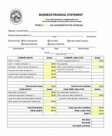 free 9 sle financial statement forms pdf